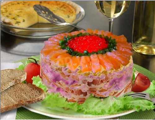 Салат шуба с семгой