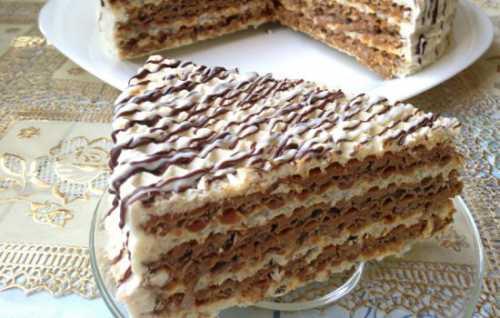 Рецепты вафельного торта со сгущёнкой, секреты