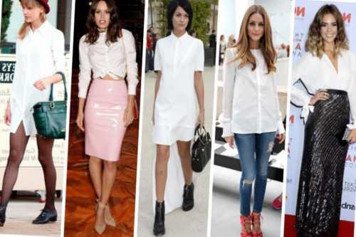 Как носить женскую рубашку: лучшие способы с фото